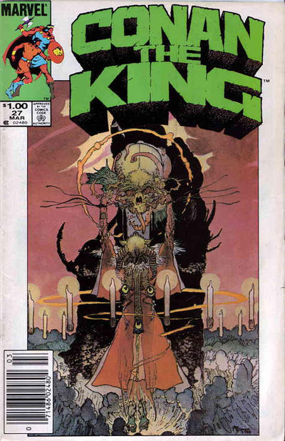 Cover for Conan the King (Marvel, 1984 series) #27 [Direct Edition]