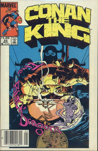 Cover for Conan the King (Marvel, 1984 series) #22 [Direct Edition]