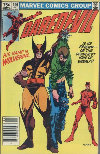 Cover for Daredevil (Marvel, 1964 series) #196 [Newsstand Edition]