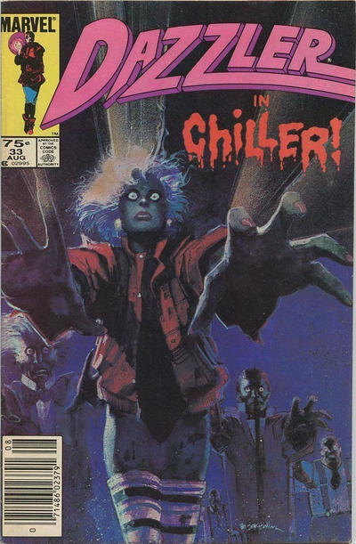 Cover for Dazzler (Marvel, 1981 series) #33 [Newsstand Edition]