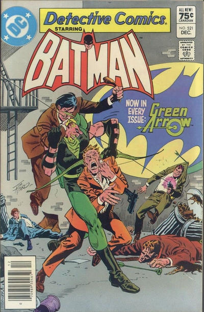 Cover for Detective Comics (DC, 1937 series) #521 [Newsstand]