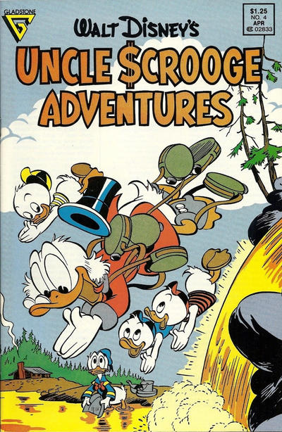 Cover for Walt Disney's Uncle Scrooge Adventures (Gladstone, 1987 series) #4