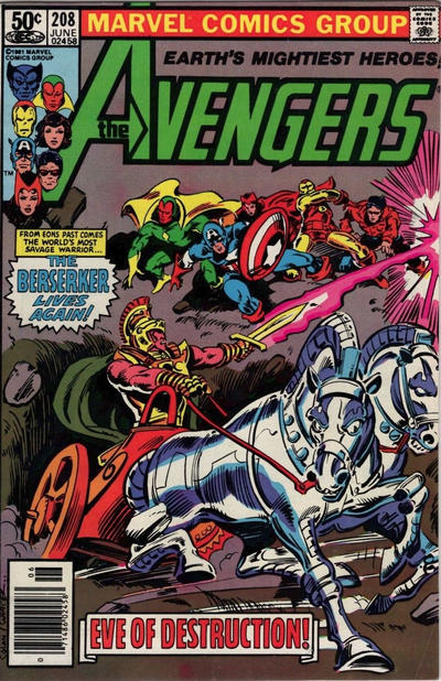 Cover for The Avengers (Marvel, 1963 series) #208 [British Variant]