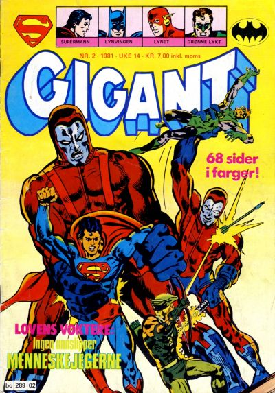 Cover for Gigant (Semic, 1977 series) #2/1981