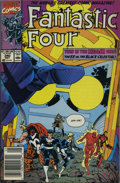 Cover for Fantastic Four (Marvel, 1961 series) #340 [Direct Edition]