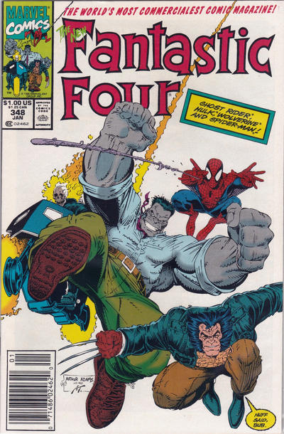Cover for Fantastic Four (Marvel, 1961 series) #348 [Direct Edition]