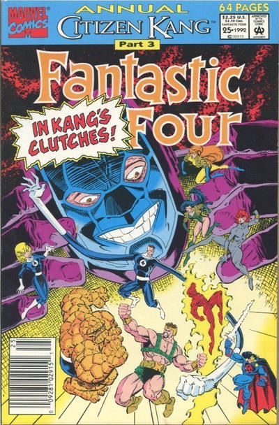 Cover for Fantastic Four Annual (Marvel, 1963 series) #25 [Direct Edition]