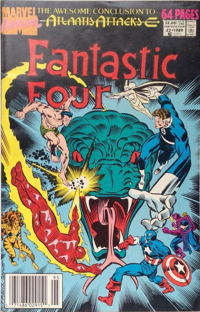 Cover for Fantastic Four Annual (Marvel, 1963 series) #22 [Direct Edition]