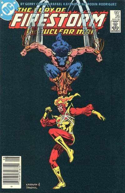 Cover for The Fury of Firestorm (DC, 1982 series) #26 [Newsstand]