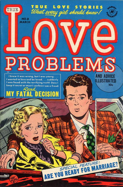 Cover for True Love Problems and Advice Illustrated (Harvey, 1949 series) #8