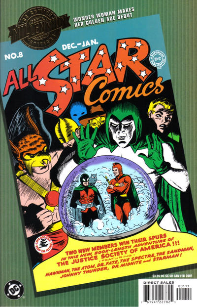 Cover for Millennium Edition: All Star Comics No. 8 (DC, 2001 series)