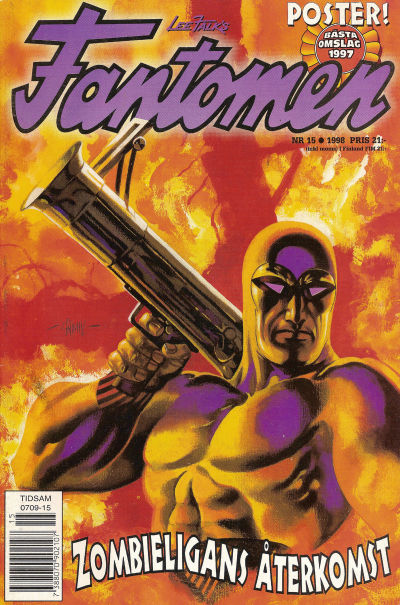 Cover for Fantomen (Egmont, 1997 series) #15/1998