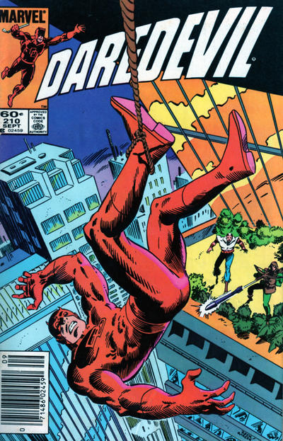 Cover for Daredevil (Marvel, 1964 series) #210 [Direct Edition]