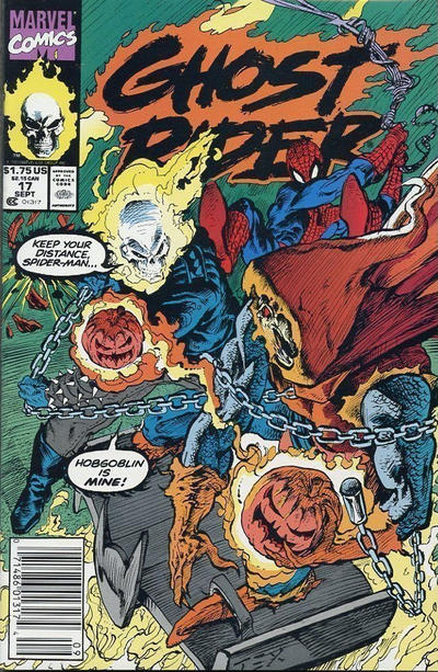 Cover for Ghost Rider (Marvel, 1990 series) #17 [Direct Edition]
