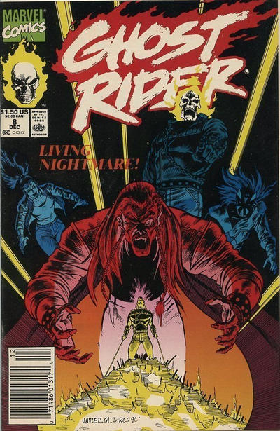 Cover for Ghost Rider (Marvel, 1990 series) #8 [Direct Edition]