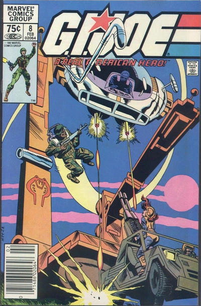 Cover for G.I. Joe, A Real American Hero (Marvel, 1982 series) #8 [Direct Edition]