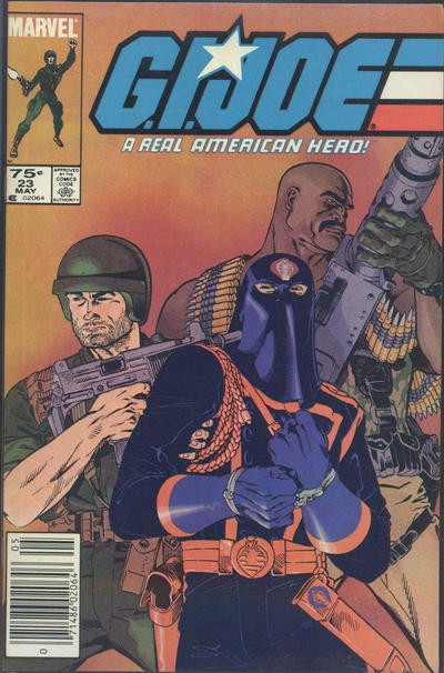 Cover for G.I. Joe, A Real American Hero (Marvel, 1982 series) #23 [Newsstand Edition]