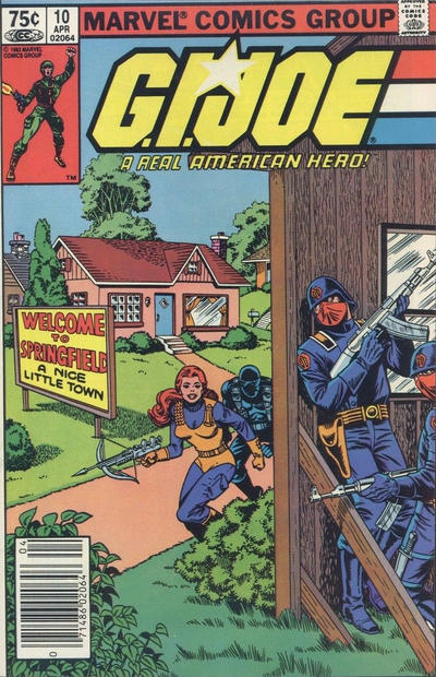Cover for G.I. Joe, A Real American Hero (Marvel, 1982 series) #10 [Newsstand Edition]