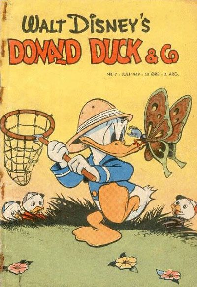 Cover for Donald Duck & Co (Hjemmet, 1948 series) #7/1949