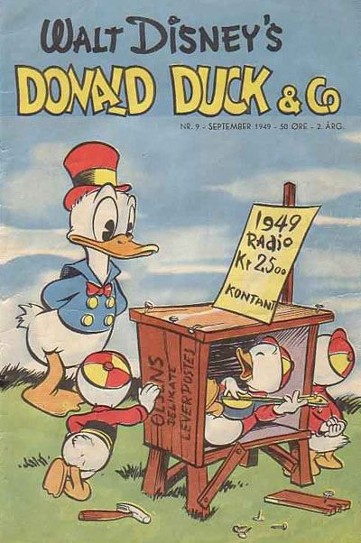 Cover for Donald Duck & Co (Hjemmet, 1948 series) #9/1949