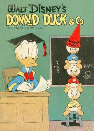 Cover for Donald Duck & Co (Hjemmet, 1948 series) #4/1954
