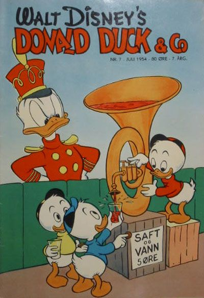 Cover for Donald Duck & Co (Hjemmet, 1948 series) #7/1954