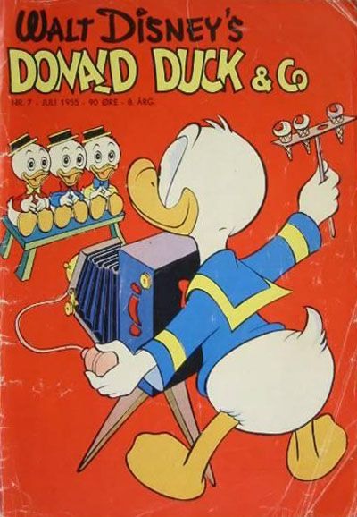 Cover for Donald Duck & Co (Hjemmet, 1948 series) #7/1955
