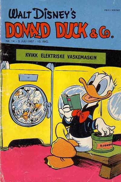 Cover for Donald Duck & Co (Hjemmet, 1948 series) #14/1957