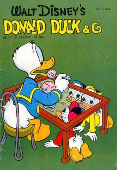 Cover for Donald Duck & Co (Hjemmet, 1948 series) #16/1957