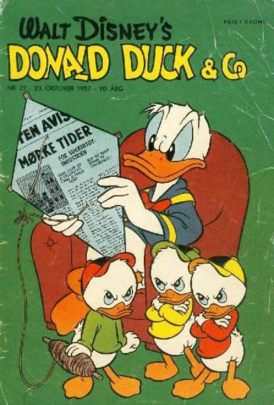 Cover for Donald Duck & Co (Hjemmet, 1948 series) #22/1957