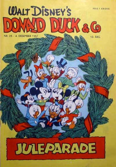 Cover for Donald Duck & Co (Hjemmet, 1948 series) #25/1957
