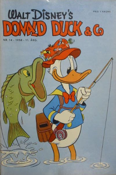 Cover for Donald Duck & Co (Hjemmet, 1948 series) #14/1958