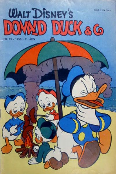 Cover for Donald Duck & Co (Hjemmet, 1948 series) #15/1958