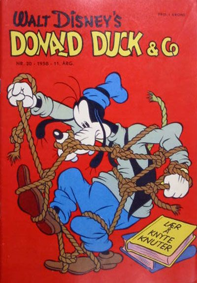 Cover for Donald Duck & Co (Hjemmet, 1948 series) #20/1958