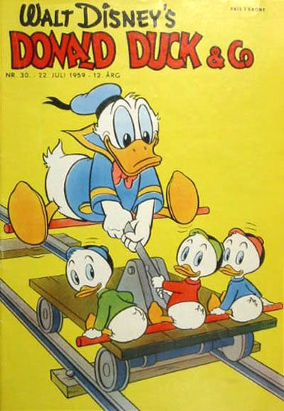 Cover for Donald Duck & Co (Hjemmet, 1948 series) #30/1959