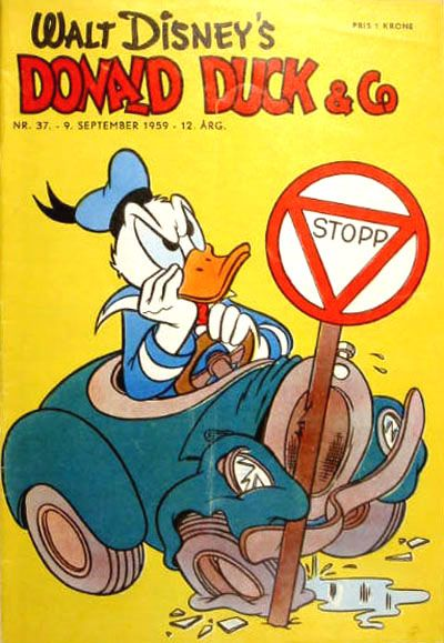 Cover for Donald Duck & Co (Hjemmet, 1948 series) #37/1959