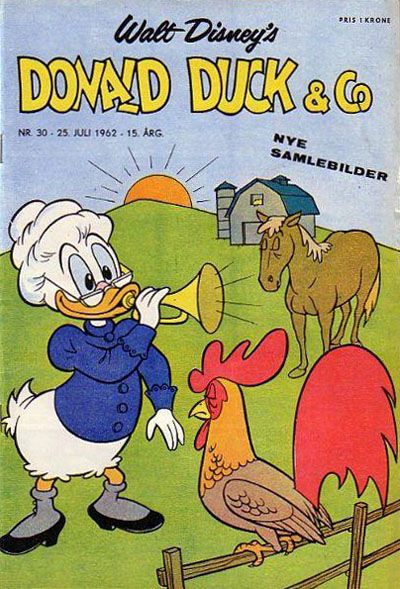 Cover for Donald Duck & Co (Hjemmet, 1948 series) #30/1962