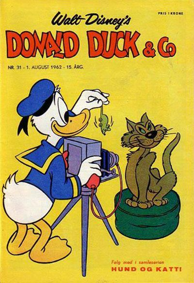 Cover for Donald Duck & Co (Hjemmet, 1948 series) #31/1962