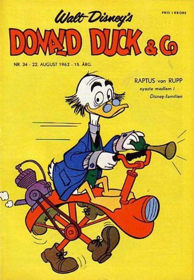 Cover for Donald Duck & Co (Hjemmet, 1948 series) #34/1962