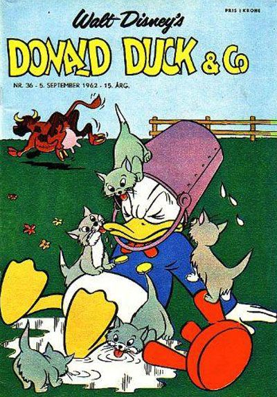 Cover for Donald Duck & Co (Hjemmet, 1948 series) #36/1962
