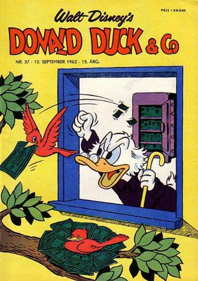 Cover for Donald Duck & Co (Hjemmet / Egmont, 1948 series) #37/1962