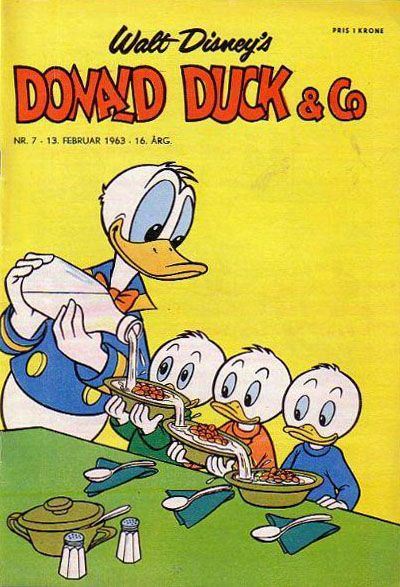 Cover for Donald Duck & Co (Hjemmet, 1948 series) #7/1963