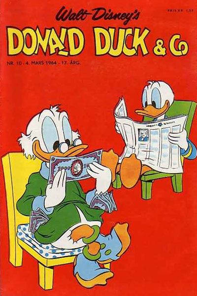 Cover for Donald Duck & Co (Hjemmet, 1948 series) #10/1964