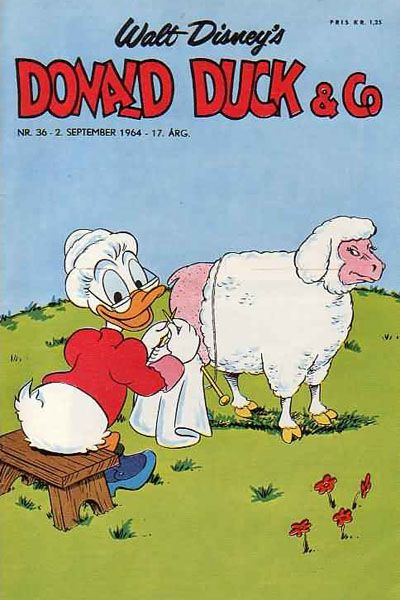 Cover for Donald Duck & Co (Hjemmet, 1948 series) #36/1964