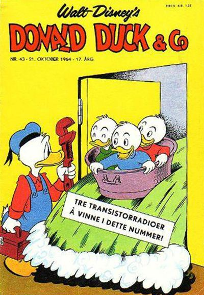 Cover for Donald Duck & Co (Hjemmet, 1948 series) #43/1964
