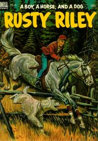 Cover Thumbnail for Four Color (Dell, 1942 series) #451 - Rusty Riley, a Boy, a Horse, and a Dog