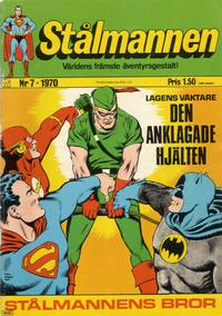 Cover Thumbnail for Stålmannen (Williams Förlags AB, 1969 series) #7/1970