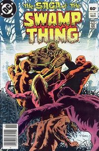 Cover Thumbnail for The Saga of Swamp Thing (DC, 1982 series) #18 [Newsstand]