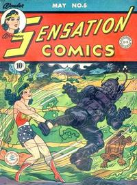 Cover Thumbnail for Sensation Comics (DC, 1942 series) #5