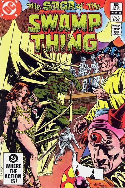 Cover for The Saga of Swamp Thing (1982 series) #7 [Canadian Price Variant]